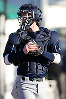 February 26, 2010:  Catcher Cameron McConnell of the Notre Dame Fighting Irish during the Big East/Big 10 Challenge at Jack Russell Stadium in Clearwater, FL.  Photo By Mike Janes/Four Seam Images