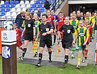 KNVB Beker Finale : ADO Den Haag - FC Twente : scheidsrechters Nicolet Bakker , Sjoukje De Jong en Fijke Hoogendijk<br /> foto DAVID CATRY / Nikonpro.be