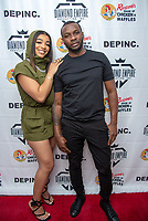 LOS ANGELES - APRIL 8: Mariana Velletto and CEO of Diamond Empire Inc., Rob Diamond at Mariana Velletto Listening Event inside Kevin Hart's HartBeat Studios in Los Angeles, CA on April 8, 2021. (Photo by Adrian Sidney/PictureGroup)