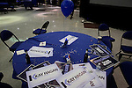 GREENSBORO, NC - NOVEMBER 4:   A pile of Kay Hagan posters litter a table at the Greensboro Coliseum after the North Carolina Senate race was called for Thom Tillis, in Greensboro, NC, on Tuesday, November 4, 2014.  (Photo by Ted Richardson/For The Washington Post)