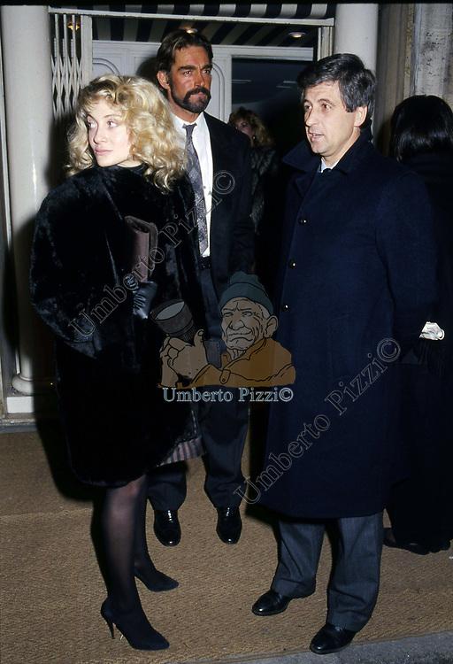 FABIO TESTI CON GIANNI RIVERA E MOGLIE<br /> PREMIO CIACK ROMA  1988