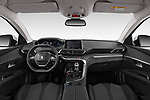 Stock photo of straight dashboard view of 2019 Peugeot 5008 Allure 5 Door SUV Dashboard