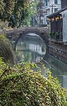 China, Jiansu, Suzhou, Pingjiang Historic District, Canal Bridge