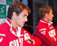 13-09-12, Netherlands, Amsterdam, Tennis, Daviscup Netherlands-Swiss, Draw  Roger Federer.