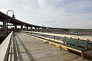 Casco Bay Bridge in Portland, Maine USA during the spring months.