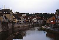Schwabisch Hall: Kocher River at twilight.