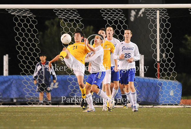 Jesuit defeats St. Paul's,2-1, in the LHSAA Div. I State Championship at Tad Gormley Stadium in New Orleans.