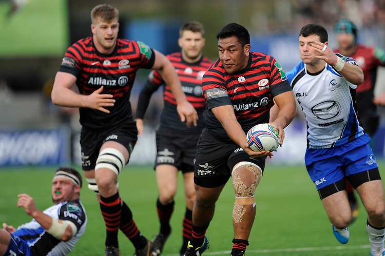 Mako Vunipola of Saracens in action during the Heineken Cup Round 6 match between Saracens and Connacht Rugby at Allianz Park on Saturday 18th January 2014 (Photo by Rob Munro)