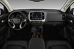 Stock photo of straight dashboard view of 2017 GMC Canyon Denali-Crew 4 Door Pickup Dashboard