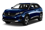 2021 Peugeot 3008 Allure 5 Door SUV Angular Front automotive stock photos of front three quarter view