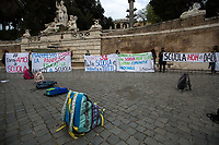 Rome, Italy. 10th Apr, 2021. Today, Rete Scuola In Presenza (1.), students, teachers and parents held a national demonstration in Rome's Piazza del Popolo (2.). The aim of the rally was to protest against the situation of the Italian Schools after one year of the ongoing pandemic Covid-19 / Coronavirus and the measures implemented by the Italian Government concerning the Education, the DAD (Didattica a distanza, distance learning via Internet) which protesters claimed that it has becoming a structural part of School/University timetable, it is not working and it is allegedly causing depression, lack of concentration and self-harming to the students. Speakers of the event, amongst others, were: Professor Daniele Novara, Scientist Doctor Sara Gandini and Professor Giovanfrancesco Vecchio, who all agree that the only solution is to open again all the schools to allow students to have face-to-face teaching and human socialization and interaction.<br />  <br /> Footnotes & Links:<br /> 1. https://www.facebook.com/ReteScuolainPresenza/<br /> 2. https://www.facebook.com/3040741362820460/