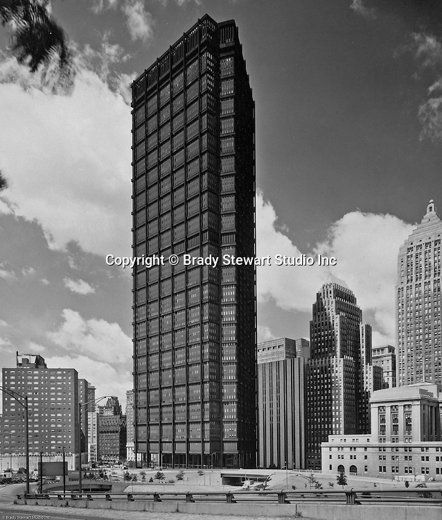 Pittsburgh PA: View of the new US Steel Building.  Completed in 1970, the US Steel Bldg is the largest skyscraper in Pittsburgh and the fourth largest in Pennsylvania (64 floors).