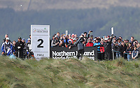 Sunday 31st May 2015; Rickie Fowler, USA, tees off at the 2nd<br /> <br /> Dubai Duty Free Irish Open Golf Championship 2015, Round 4 County Down Golf Club, Co. Down. Picture credit: John Dickson / DICKSONDIGITAL