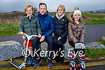 The MacKenzie family enjoying a stroll at the lock gates in Lohercannon on Monday, l to r: Phil, Keith, Rachel and Hannah Mackenzie