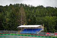 26th August 2021; Spa Francorchamps, Stavelot, Belgium: FIA F1 Grand Prix of Belgium, driver arrival day:  Grandstands during the Formula 1 Belgium Grand Prix