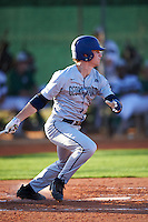 Georgetown Hoyas shortstop Ryan Davis (35) at bat during a game against the Chicago State Cougars on March 3, 2017 at North Charlotte Regional Park in Port Charlotte, Florida.  Georgetown defeated Chicago State 11-0.  (Mike Janes/Four Seam Images)