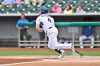 Tennessee Smokies right fielder Billy McKinney (4) swings at a pitch during a game against the Jackson Generals at Smokies Stadium on July 5, 2016 in Kodak, Tennessee. The Generals defeated the Smokies 6-4. (Tony Farlow/Four Seam Images)