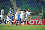 United Arab Emirates vs Uzbekistan during the 2014 AFC U19 Mens Championship group B match on October 12, 2014 at the Thuwunna Stadium, in Yangon, Myanmar. Photo by World Sport Group