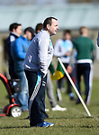 Scariff Community College manager Sean Mc Namara on the sideline against St Fergal's College during their All-Ireland Colleges final at Toomevara. Photograph by John Kelly.