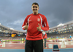 Wales Lee Doran in action during tonights final <br /> <br /> Photographer Ian Cook/Sportingwales<br /> <br /> 20th Commonwealth Games - Day 10 - Saturday 2nd August 2014 - Athletics -  Hamden Park - Glasgow - UK