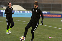 Piscataway, NJ - Sunday April 15, 2018: Yael Averbuch prior to a regular season National Women's Soccer League (NWSL) match between Sky Blue FC and the Seattle Reign FC at Yurcak Field.