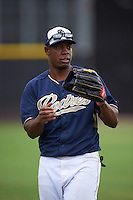 San Diego Padres Jhonatan Pena (68) during practice before an instructional league game against the Milwaukee Brewers on October 6, 2015 at the Peoria Sports Complex in Peoria, Arizona.  (Mike Janes/Four Seam Images)