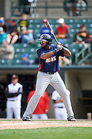 Toledo Mudhens right fielder Jordany Valdespin (24) at bat during a game against the Rochester Red Wings on June 12, 2016 at Frontier Field in Rochester, New York.  Rochester defeated Toledo 9-7.  (Mike Janes/Four Seam Images)