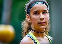 Hilversum, Netherlands, August 8, 2018, National Junior Championships, NJK, Anicia Hammoud (NED)<br /> Photo: Tennisimages/Henk Koster