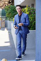 Charles B Wells Spotted Leaving Office Building In Burbank