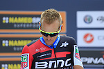 Alesandro de Marchi (ITA) BMC Racing Team at sign on before the start of the 99th edition of Milan-Turin 2018, running 200km from Magenta Milan to Superga Basilica Turin, Italy. 10th October 2018.<br /> Picture: Eoin Clarke | Cyclefile<br /> <br /> <br /> All photos usage must carry mandatory copyright credit (© Cyclefile | Eoin Clarke)