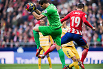 Goalkeeper Gorka Iraizoz Moreno of Girona FC saves the ball during the La Liga 2017-18 match between Atletico de Madrid and Girona FC at Wanda Metropolitano on 20 January 2018 in Madrid, Spain. Photo by Diego Gonzalez / Power Sport Images