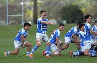Silverstream performs a haka before the Wellington 1st XV Tranzit Coachlines premiership secondary schools rugby union match between St Patrick's College Silverstream and Rongotai College at Silverstream in Wellington, New Zealand on Saturday, 29 August 2020. Photo: Dave Lintott / lintottphoto.co.nz