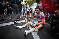 Jesus Herrada (ESP/Cofidis)  post race exhausted<br /> <br /> Stage 17: Pont du Gard to Gap (200km)<br /> 106th Tour de France 2019 (2.UWT)<br /> <br /> ©kramon
