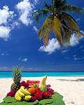 BRB, Barbados, Fruechte am Strand | BRB, Barbados, fruit on the beach