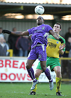Thurrock vs Grays Athletic - 26/12/04 - Nationwide Conference South - Grays' Leroy Griffiths tries to get the ball under control as Thurrock's Richard Goddard closes in - (Gavin Ellis)