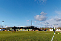 Pictured: Players train. Thursday 18 January 2018<br /> Re: Players and staff of Newport County Football Club prepare at Newport Stadium, for their FA Cup game against Tottenham Hotspur in Wales, UK