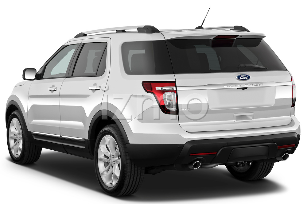 Rear three quarter view of a 2011 Ford Explorer XLT