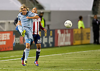 CARSON, CA - April 1, 2012: Chance Myers (7) of KC during the Chivas USA vs Sporting KC match at the Home Depot Center in Carson, California. Final score Sporting KC 1, Chivas USA 0.