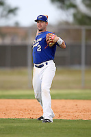 March 22, 2010:  Third Baseman Pat Osborn (2) of the Long Island Storm during a game at the Carl Barger Training Complex in Melbourne, FL.  Photo By Mike Janes/Four Seam Images