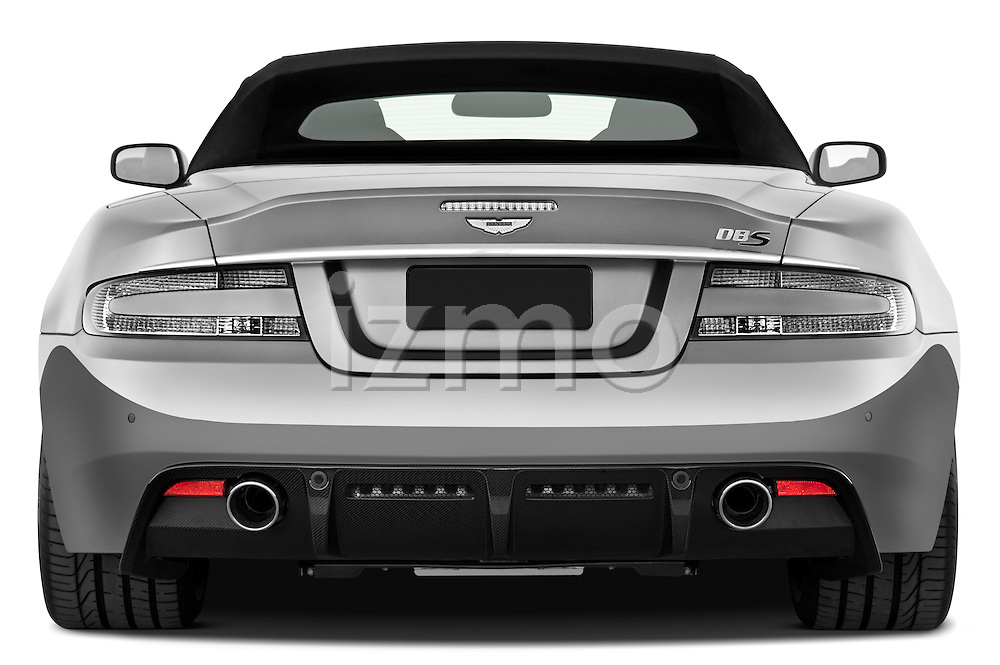 Straight rear view of a 2007 - 2012 Aston Martin DBS Volante Convertible.