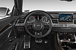 Car pictures of steering wheel view of a 2014 Audi S8 Base 4 Door Sedan