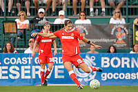 Yael Averbuch (18) of the Western New York Flash. The Western New York Flash defeated the Philadelphia Independence 5-4 in a penalty kick shootout after playing to a 1-1 tie during the Women's Professional Soccer (WPS) Championship presented by Citi at Sahlen's Stadium in Rochester NY, on August 27, 2011.