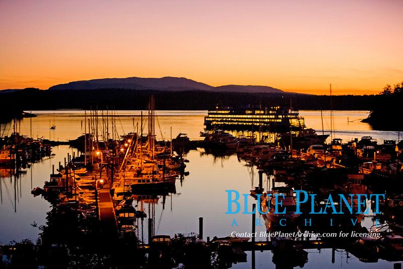 Friday Harbor, San Juan Islands in the evening
