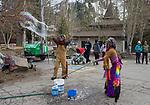 Festival goers enjoy the WinterWonderGrass event on Saturday, April 7, 2018 in Squaw Valley, Ca.