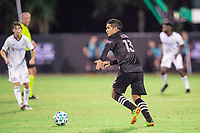 LAKE BUENA VISTA, FL - JULY 14: Victor Ulloa #13 of Inter Miami dribbles the ball during a game between Inter Miami CF and Philadelphia Union at Wide World of Sports on July 14, 2020 in Lake Buena Vista, Florida.