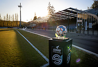 illustration picture showing the Scooore Super League Ball Holder ahead of a female soccer game between FC Femina White Star Woluwe and KRC Genk on the third matchday of play off 2 in the 2020 - 2021 season of Belgian Scooore Womens Super League , Friday 23 th of April 2021  in Woluwe , Belgium . PHOTO SPORTPIX.BE | SPP | SEVIL OKTEM