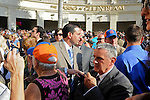 Mike Repole, owner of Stay Thirsty, in the paddock prior to the  60th running of the grade 1 Florida Derby for three year olds on April 3, 2011 at Gulfstream Park in Hallandale Beach, Florida.  (Bob Mayberger/Eclipse Sportswire)