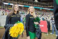 SANTA CLARA, CA - December 5, 2014: The PAC 12 Championship game between the Oregon Ducks and the Arizona Wildcats at Levi Stadium in Santa Clara, California. Final score, Oregon Ducks 51, Arizona Wildcats 13.