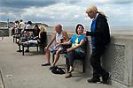 Leysdown-on-Sea,  Isle of Sheppey Kent UK. Seniors on holiday.