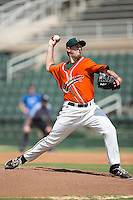 Greensboro Grasshoppers starting pitcher Cody Poteet (21) in action against the Kannapolis Intimidators at Intimidators Stadium on July 17, 2016 in Greensboro, North Carolina.  The Intimidators defeated the Grasshoppers 3-2 in game one of a double-header.  (Brian Westerholt/Four Seam Images)